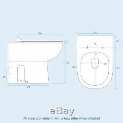 Ingersly Droite Salle De Bains Gris Vanity Furniture Basin Retour Au Mur Toilettes