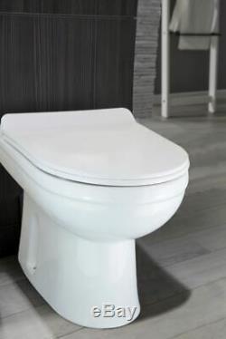 Ingersly Gauche Salle De Bains Gris Vanity Furniture Basin Retour Au Mur Toilettes