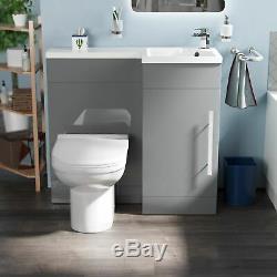 Ingersly Salle De Bains Bassin Sink Vanity Gris Clair Rh Wc Unité Retour Au Mur Toilettes