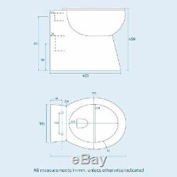 Ionel Gris Bathroom Vanity Unit Lh Wc Bassin Meubles Retour Au Mur Toilettes 1100mm