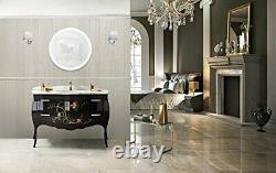 Krug Led Salle De Bain Ronde 27 Diamètre Lumineux Vanity Miroir Argenté
