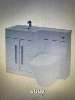 Lefted Vanity Sink Unit Retour Au Mur Wc Salle De Bain Sans Vis À Vis