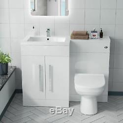 Lh Meuble Sous Lavabo Évier Bassin Wc Retour À Mur Rimless Toilettes Salle De Bains Costume Aron