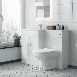 Lh Meuble Sous Lavabo Évier Bassin Wc Retour À Mur Rimless Toilettes Salle De Bains Costume Debra