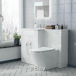 Lh Vanity Éviers Retour À Wc Mur Rimless Toilettes Salle De Bains Costume Aric