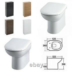 Linton Slimline Retour À Wall Btw Toilette Wc Et Walnut Vanity Unit