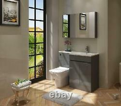 Lshaped Bathroom Furniture Suite Back To Wall Toilet, Basin & Sink