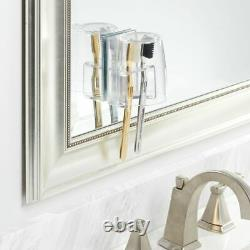 Mdesign Porte Brosse À Dents Vanity Salle De Bain Avec Coupe / Cover Clear / Mirror Back