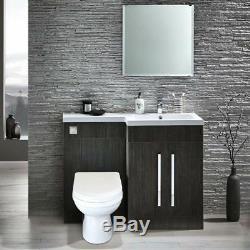 Melbourne Rh 1100 Gris Salle De Bains Vanity Meubles En Résine Bassin Dos Au Mur Toilettes