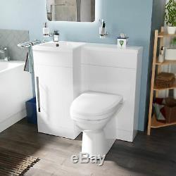 Melbourne Salle De Bains Blanc Wc Bassin Évier Lavabo Unité Retour Au Mur Toilettes Lh