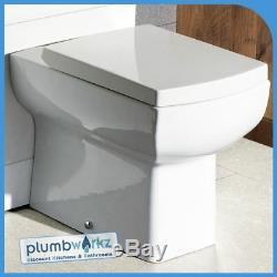Meuble De Salle De Bains Meuble Sous Lavabo Cabinet Céramique Bassin Vers Le Mur Unité De Toilette