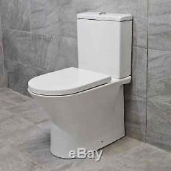 Meuble-lavabo 750mm + Option De Toilettes Sans Rebord Évier Lavabo Salle De Bains Suite + Robinet