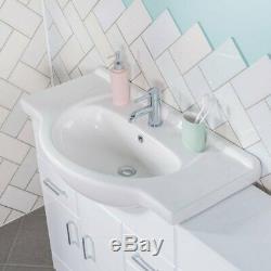 Meuble-lavabo Absolu 850 MM Et Unité De Toilette Arrière Au Mur 500 MM Avec Toilette Et Lavabo