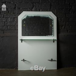Meuble-lavabo De Salle De Bain Art Déco Blanc Avec Miroir Splash Back