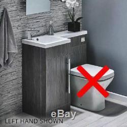 Meuble-lavabo-meuble-dos-à-mur-wc-évier-évier-gris-en Forme De L