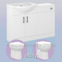 Meubles De Salle De Wc Suite Meuble Sous Lavabo Bassin Blanc Évier Toilettes Retour À Wall Btw