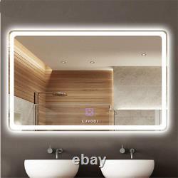 Miroir Anti-brouillard De Salle De Bains, Cadre Moins Rectangle Led Vanity Mirror Pour Wall Mirror