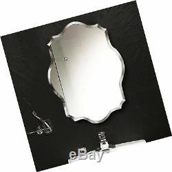 Miroir Mural Commoda Sans Cadre En Verre Bois Support Vanity Chambre Salle De Bain Accrocher