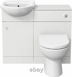 Moderne Salle De Bains Toilettes Et Bassin Éviers Vanity 1th Meubles 910mm Matte White