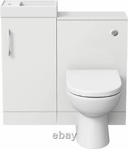 Moderne Salle De Bains Toilettes Et Bassin Éviers Vanity Meubles De White Gloss