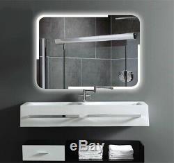 Mugo Bath Meuble De Toilette Led Miroir, Rectangulaire Avec Désembuage, Rétro-éclairé, 3224