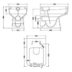 Nova 1000mm Combinaison Vanity Unit & Wc Btw Options De Pan Et Multiposte Pan