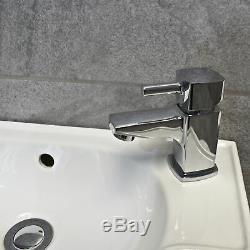 Pacifique Vestiaire Slimline Bassin Évier Meuble Sous Lavabo + Toilettes Set Suite 450mm Blanc