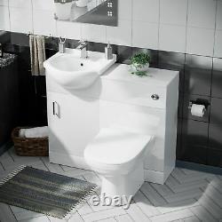 Pack Plat Cloakroom Vanity Unit, Bassin Et Retour Au Mur Toilettes Wc En-suite Zebra