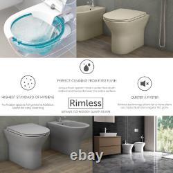 Rak Noir Retour Au Mur Toilettes Vanity Unité Bassin Giberit Cistern Suite Vestiaire