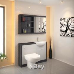 Retour À 1200mm Mur Dérive Toilettes Lavabo Blanc Unité Btw Avec Réservoir 2h12w