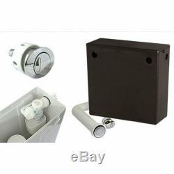 Retour À 1200mm Murale Noyer Lavabo Noir Tireuse De Toilette Avec Réservoir 4h12b