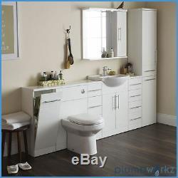 Retour À Wall Btw Wc Pan Toilettes Concealed Cistern, Siège Et Unité Vanity