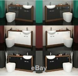 Retour Au Bassin Évier Vanité Noyer Mur 1500mm Toilettes Unité Btw Et Citerne L15e3