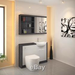 Retour Au Mur 1200mm Dérive Unité Du Robinet Toilette Vanité Lavabo Blanc Et 5h12w Citerne