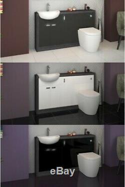 Retour Au Mur 1500mm Bois Flotté Toilettes Bassin Vanité Unité Btw Et H15e3 Citerne