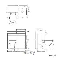 Retour Au Mur Salle De Bains Vanity Toilettes Bassin Évier Armoire De Rangement R Collection Uniquement