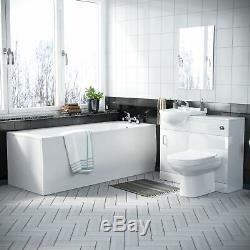 Retour Au Mur Toilettes Bassin Unité Vanity Bath 3 Salle D'eau Suite Ingersly