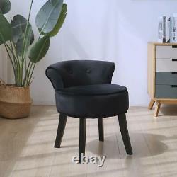 Rétro Dressing Table Stool Bedroom Room Makeup Vanity Chair Velvet Backrest Seat