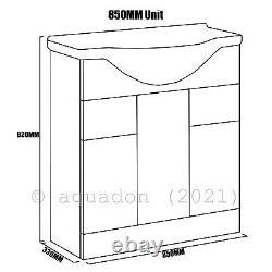 Salle De Bain Vanity Unit & Retour Au Mur Wc Toilette Unit 1450 Pan Options 850 +600