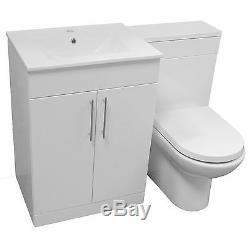 Salle De Bain Vanity Unité Jusqu'au Mur Slim Wc Citerne Bassin Tap 1100mm Puits