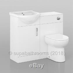 Salle De Bains 450mm Meuble Sous Lavabo Évier Bassin Linton Retour À Wall Toilettes Suite Meubles