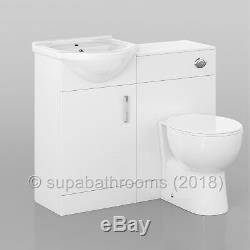 Salle De Bains 450mm Vanity Evier Basin Laura Retour À Wall Toilettes Suite Meubles