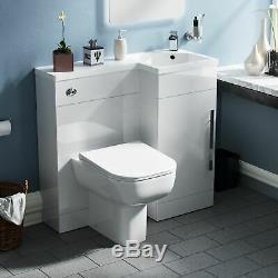 Salle De Bains 900 MM Blanc Rh Bassin Évier Wc Lavabo Unité Retour Au Mur Toilettes Lovane