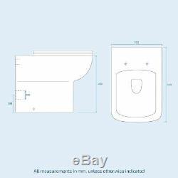 Salle De Bains 900 MM Gris Rh Bassin Évier Wc Lavabo Unité Retour À Wall Toilettes Debra