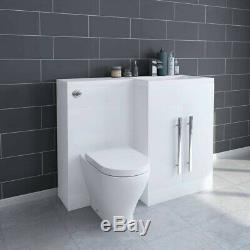 Salle De Bains Bassin Évier Vanity Unité Retour À Wall Toilettes Suite Grand Meubles