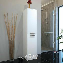 Salle De Bains Complète Vestiaire Fémoro Blanc Brillant Rangement Vanity Suite Option