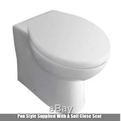 Salle De Bains Gris Vanity Furniture Basin Retour Au Mur Toilettes Unité Combinaison