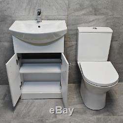 Salle De Bains Rangement Meuble Sous Lavabo Évier Lavabo + Rimless Wc Suite 550 650 750 850mm