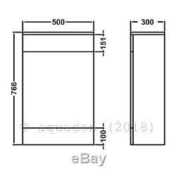 Salle De Bains Unité Vanity 550mm Basin Sink Linton Retour À Wall Toilettes Suite Meubles