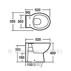 Salle De Bains Unité Vanity 650mm Basin Sink Laura Retour À Wall Toilettes Suite Meubles